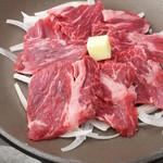 食彩 あばらや - 国産牛(ランプ)陶板焼き