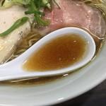 86885820 - 煮干しと鶏のスープ