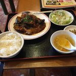 香港亭 - 麻婆ナなす定食680円(税別)