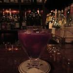 バースカーレット - カルバドスと葡萄のカクテル