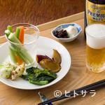 シロクマ食堂 - 「何にしようかな〜 とりあえずビール!!」のセット