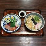 きふじ - 寿し うどんセット  ¥650