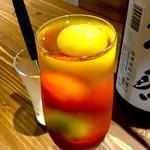 86889218 - 日本酒カクテル「プチトマト x 獺祭」(680円)。