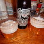 博多長浜ラーメン 健太 - ビール