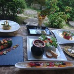 杉幸園 - 料理写真:6 月のおまかせコースです。デザートプレート付 3500円は、ご予約にて承っております。