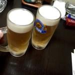 味彩 ぜん - まずは生ビール