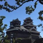 熟成肉と手作りソーセージの旨安ワイン酒場炭焼グリル 孫三郎 - 加藤神社から望む天守は一見大丈夫そうに見えますが。。。よく見ると切なく成ります