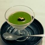 鮨 銀座 おのでら - 抹茶のブラマンジェ