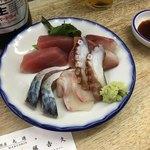まるしん - 刺身5種盛り650円