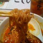 8690182 - 担々麺(ハーフ) の麺アップ