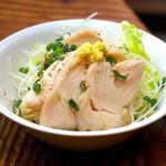 湯畑 草菴 - おつまみ(地鶏ポン酢)