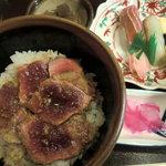 和食 たか田 - ステーキ丼+寿司