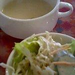 8691449 - ランチセットのスープとサラダ
