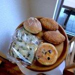 パン工房シュシュ - カレーパン、リュスティック、抹茶大納言、ベリークリームチーズ