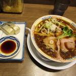 サバ6製麺所 - らーめんセット:サバ醤油そば+サバ寿司(2カン)