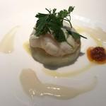 エルルカン・ビス - くんせい帆立貝とジャガイモのサワークリーム和え