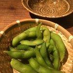 とりのほまれ - お通しの枝豆
