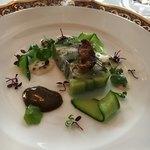 レストラン クレッセント - 鮎のテリーヌ仕立て 胡瓜のコンポジション 肝スース和え