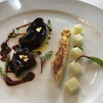 レストラン クレッセント - フォアグラソテー バルサミコソース ホワイトアスパラガスのソテー