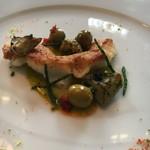 レストラン クレッセント - マコガレイのムニエル ピスタチオオイルのエルミッション オリーブ