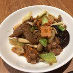 中国薬膳料理 星福 - 高麗人参入り牛肉のオイスター炒め