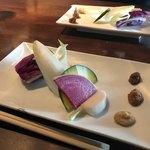 酢重DINING - 酢重のお味噌と新鮮野菜の盛り合わせ