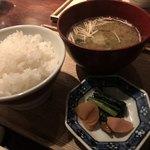 酢重DINING - 銅鍋ご飯、お味噌汁、おかず類
