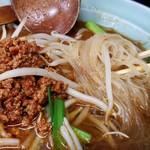 玉蘭 - 極辛サーツァースープ米粉(ビーフン)のビーフンアップ。