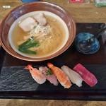お食事処 市玄 - あさっぱらーめん寿司セット 1,000円
