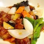 中華料理 ハルピン - セットのメイン  酢豚