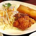 中華料理 ハルピン - セットの揚げ物2種