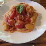カフェ ハチス - (1)トマトと茄子の冷製カッペリーニ