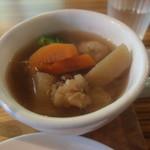 カフェ ハチス - (3)季節野菜と肉団子のスープ