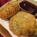 鳥弥三 - ほうれん草とチーズのごちそうコロッケ