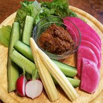 86928992 - 有機野菜の肉味噌ディップ
