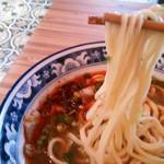 86931291 - 選んだ麺は、三角麺。