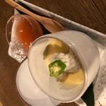 美味しいコラボ!つるんと冷たい玉子豆腐