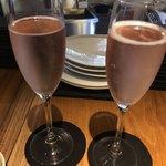 燻製イナダ商店 - ロゼのシャンパンで乾杯♪