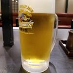 ての字 - 生ビール(550円)
