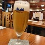 魚焼男 - グラスビール ¥380+tax
