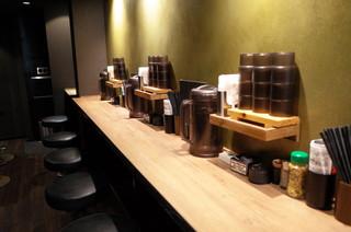 RAMEN TOMIRAI 代々木店 - 2階カウンター