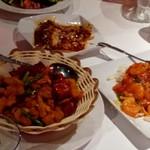 86939270 - 鶏肉の唐揚げの唐辛子炒め・海老チリ