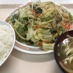 お食事処 波布 - 2018年5月29日  やさい炒め定食 650円