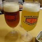 86945660 - 八海山の地ビールでカンパイ