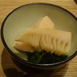 86946147 - お通しの竹の子の土佐煮