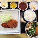 吉田麺業 - 料理写真:ランチメニュー:かつ膳 1,000円(税込)。     2018.05.27