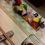 和食居酒屋なかじ - 造りの盛り合わせ