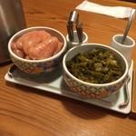 やまや - 食べ放題の明太子と辛子高菜