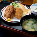 赤兵衛 - 餃子カツ定食S