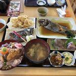 86949941 - 黒むつ定食、富浦漁師賄い丼、マゴチのうしお汁
